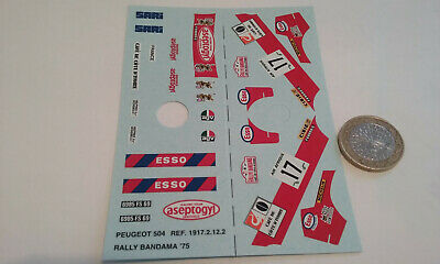 decals decalcomanie deco peugeot 504 bandama 1975 1/43