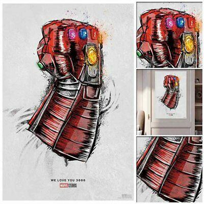 Avengers End Game Poster Movie Re Release We Love You 3000 Print 60cm*40cm New