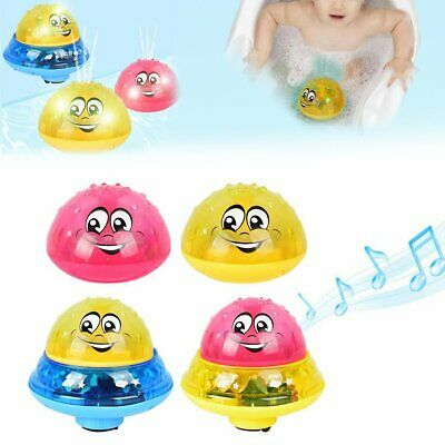 Children Electric Induction Sprinkler Water Spray Light Baby Play Bath Toys JO