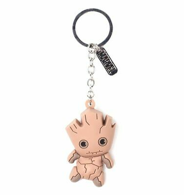 Marvel Guardians of the Galaxy Groot 3D Rubber Keychain Keyring - Avengers