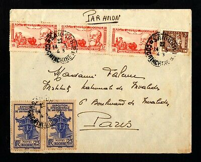 15558-INDOCHINA-AIRMAIL COVER SAIGON to PARIS(france)1948.WWII.Indochine.VIETNAM