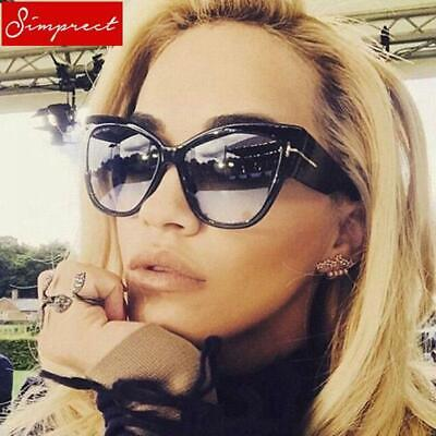 0417c0e4ab41 SIMPRECT Oversized Cat Eye Sunglasses Women 2019 Mirror Big Cateye Sun  Glasses F