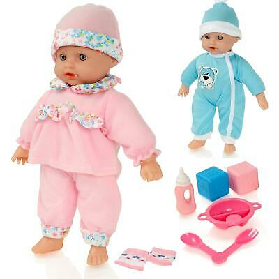 Molly Dolly Talking Crying Laughing Baby Doll Soft Bodied New-Born Dressed Girl