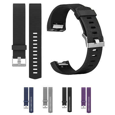 For Fitbit Charge 2 Wrist Strap Soft Silicone Watch Replacement Wristband