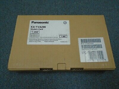 NEW (1) Panasonic KX-TVA50 Voice Mail System - KX-TVA296 Maintenance Modem Card