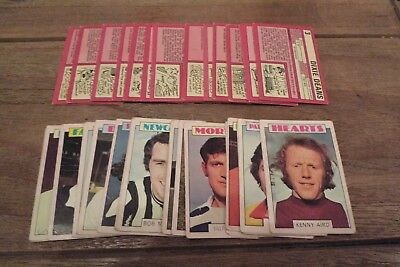 A&BC Scottish Red Back Football Cards 1973 - Good/Fair - Pick The Cards You Need