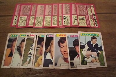 A&BC Red Back Scottish Football Cards 1973 - VGC! Pick The Cards You Need!