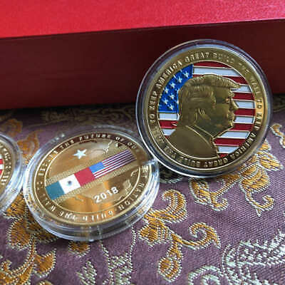 US Donald Trump 2020 BUILD THE WALL TO KEEP AMERICA GREAT Coin Commemorative