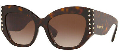 Valentino 4056 54 500213 Havana Sunglasses Avana Sole Lenses Brown Gradient