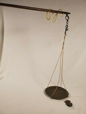 Vintage Copper W&M KLM Hanging Scale ~ Steelyard Unequal Beam Style