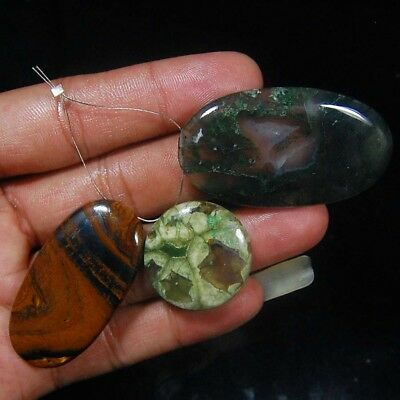 141 Cts 100% Natural Fine Quality Mix Stone  Piece 3 Loose Gemstone Cabochon