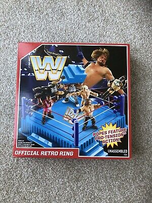 Mattel WWF WWE Official Retro Style Wrestling Ring FMJ11 12+ New Sealed