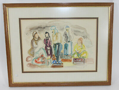 Unknown Mid-20th Century Artist Watercolor Dated 69 Signed N. Megidon (?)