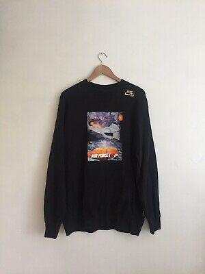 1 Xl Force Jumper Sweater Nike Air Sweatshirt Graphic Black Size Longsleeve 08mNwn