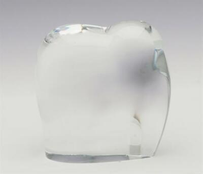 Baccarat clear Crystal Asian Elephant Collectible Figurine, gently used