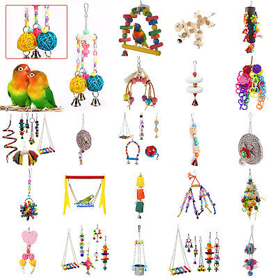 Pets Bird Toy Parrot Hanging Swing Rope Cage Toys Parakeet Cockatiel Budgie Toy