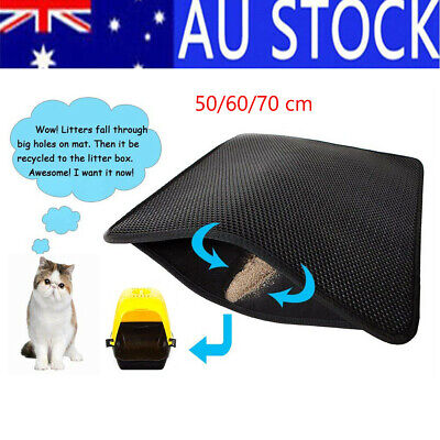 Cat Litter Mat Anti-Tracking Honeycomb Trapping Mat Double Layer Urine Proof Rug