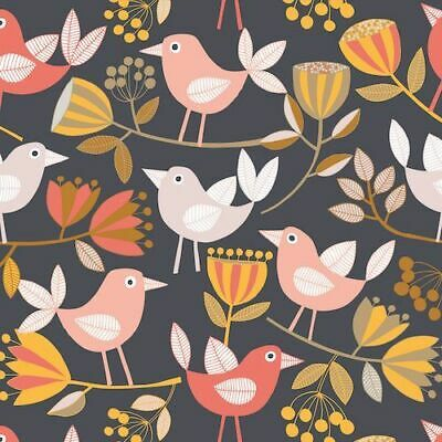 Fat Quarter Dashwood Studio Summer dance Swallow navy birds fq