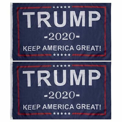 2pcs President Trump 2020 Candidate Support Banner Keep America Great Flag 3x5ft