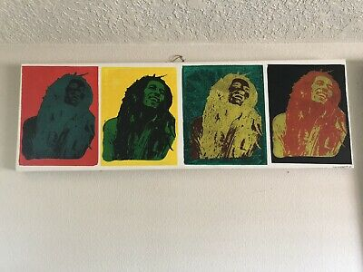 Bob Marley Hand Painted Canvas 1/1 Art Unique Locally Made Signed