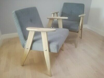 Set of 2 vintage renovated armchair from 60s