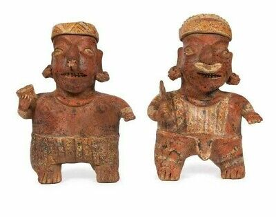 Lot of 2 Ancient Pre Columbian Nayarit, Mexico Pottery Figures, 550-950 AD.