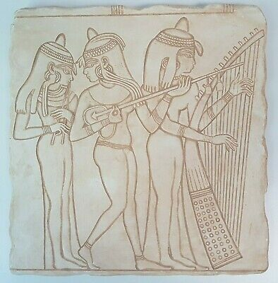 Ancient Egyptian Scene REPRODUCTION Wall Plaque Hanging Nakht Female Musicians