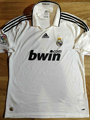 c15c6e205 Adidas REAL MADRID 2008/09 Home Mens Soccer Jersey Football Shirt Spain  White