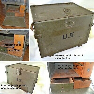 WWII US Military Trunk Field Desk Rice Stix Dry Goods Co Tent Spec Co Nov15,1940