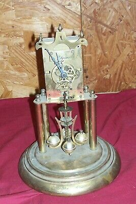 Old Elgin S. Haller German Desk Shelf Mantle Jeweled Clock for Parts Restoration