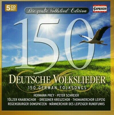 Traditional - 150 German Folksongs [New CD]