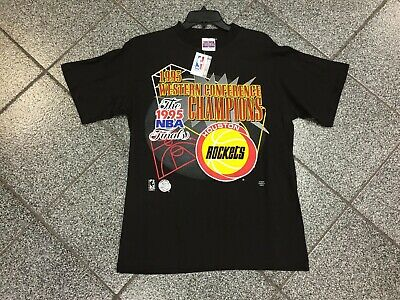 L NWT VINTAGE 1995 Houston Rockets Western Conference Champs NBA Finals T-Shirt