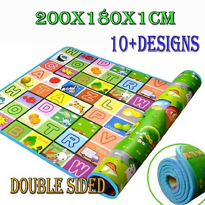200*180*1CM Nontoxic Baby Kids Play Mat Floor Rug Picnic Cushion Crawling Mat AU