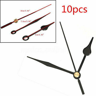 Quartz Clock Movement Mechanism Black Hands DIY Wall Clock Repair Parts Kit