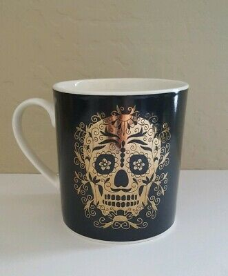 Day of the Dead Black and Gold Coffee Mug