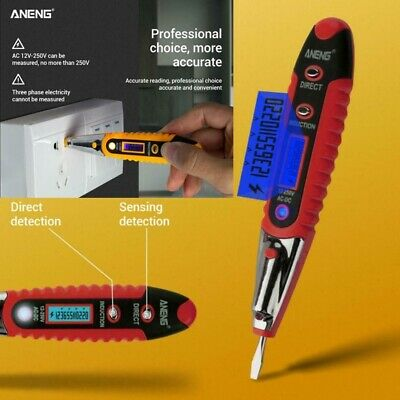 ANENG AC/DC 12-250V LCD Digital Display Voltage Pen Detector Tester Test Pencil
