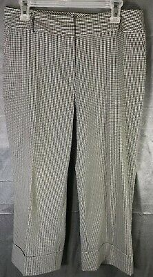 Julie Mitchell Urban Collection Womens White/Gray Pinstriped Dress Pants Size 12