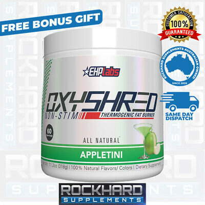 EHPLabs Oxyshred Non-Stim Thermogenic All Natural Fat Loss 60 Serves EHP Labs