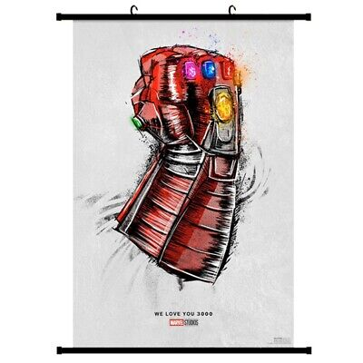 New Avengers End Game Movie Re Release We Love You 3000 Scroll Painting 40X60 CM