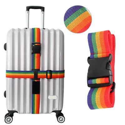 Rainbow Luggage Strap Nonslip Adjustable Suitcase Belt for Travel Business Trips