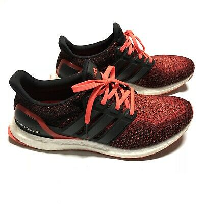 Adidas Ultra Boost 2.0 Solar Red Core Black AQ5930 Men's Sz 11.5 NO BOX | eBay
