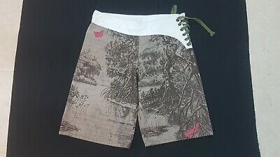 f26586606a O'NEILL Mens Size 29 Swim Trunks Board Shorts Green White Beach Swimmer  Surfer