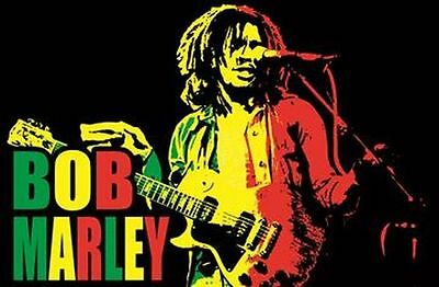 Bob Marley - Live Music Blacklight Poster - 23X35 Flocked 991