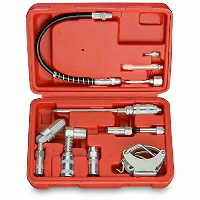 Tooluxe 61077L Grease Gun & Lubrication Accessory Kit Zerk Fitting Multi Funtion