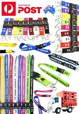 "Lanyard ID Key Holder Clip ""Under Armour"" for Name Tag ID Card Holder Neck Strap"