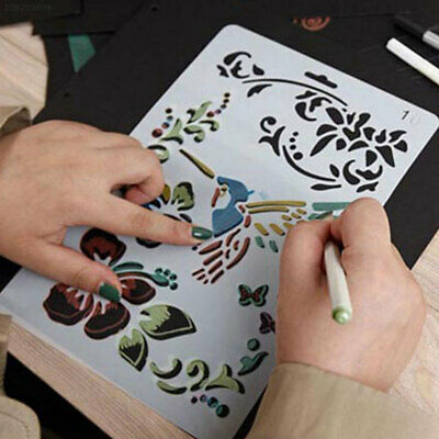 7133 Multi Style Stencils Scrapbooking Drawing Sheets Make Student