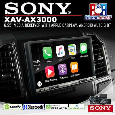 "Sony XAV-AX3000 6.95"" Apple CarPlay/Android Auto Receiver + FREE REVERSE CAMERA"