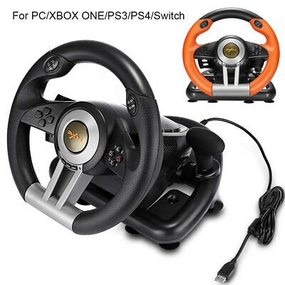 PXN Driving Race Game Steering Wheel Brake Pedal for PC PS3 PS4 Xbox One Switch