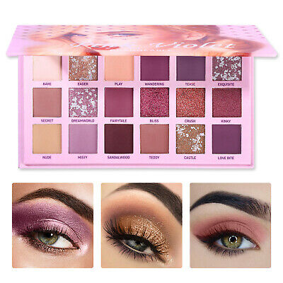 UCANBE 18 Colors Eyeshadow Palette Beauty Makeup Shimmer Eye Shadow Cosmetic fa
