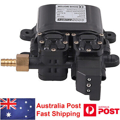 6.5LPM 100PSI Diaphragm Water Pump Self Priming High Pressure Caravan Boat DC12V